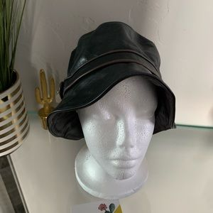 Coach leather bucket hat